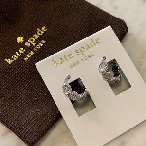 New Kate Spade pave diamonds full circle earrings